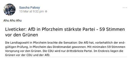 Berserker-Sympathie für AfD