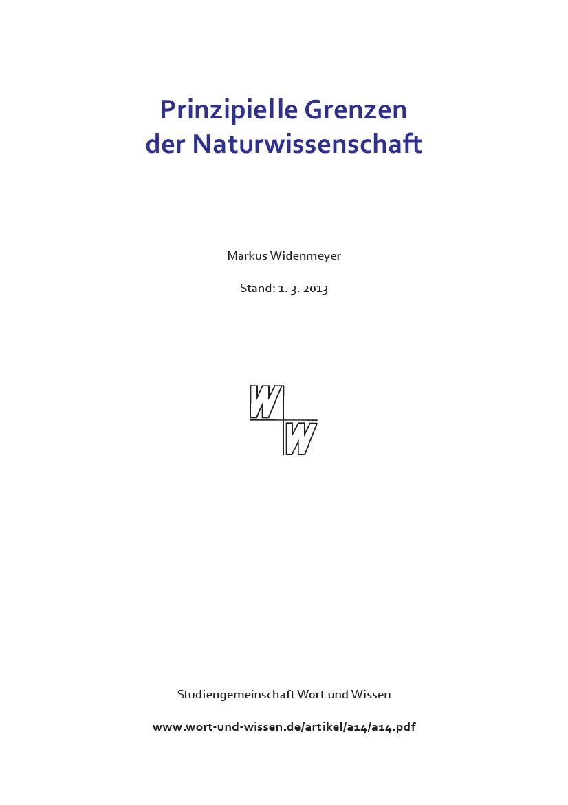 Widenmeyer als Autor bei