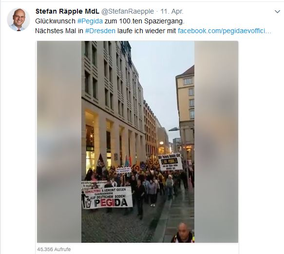 Räpple PEGIDA-Fan