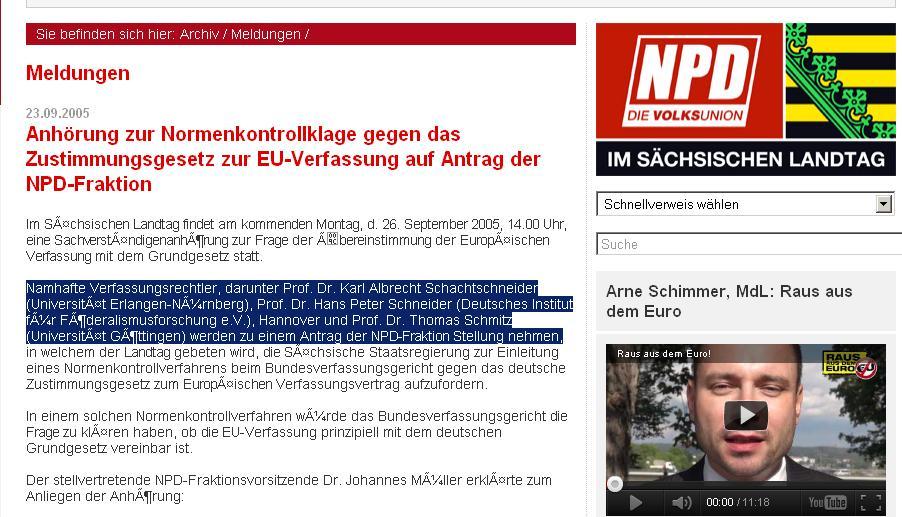 Schachtschneider als NPD-Experte