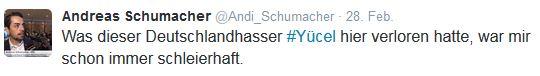 Schumacher versus Yücel