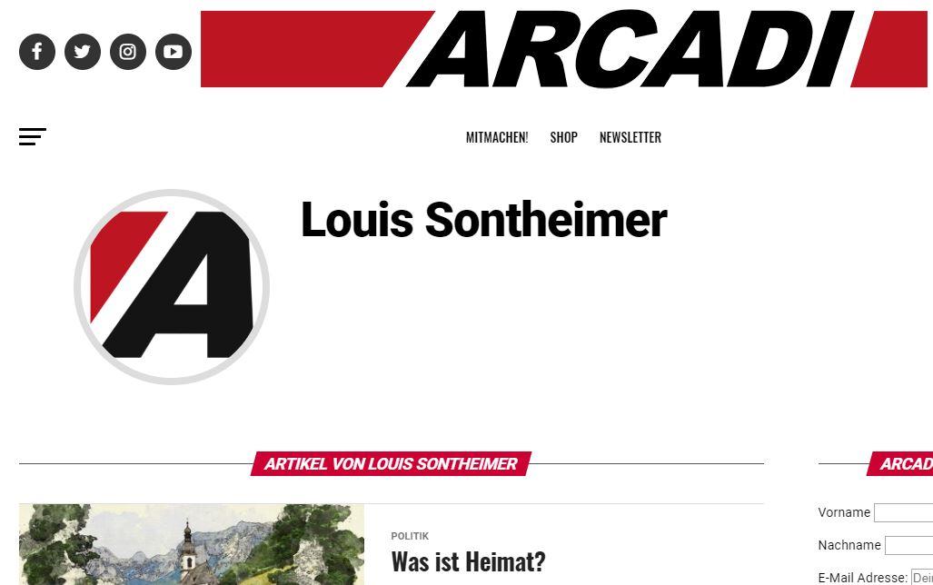 Sontheimer als Arcadi-Autor