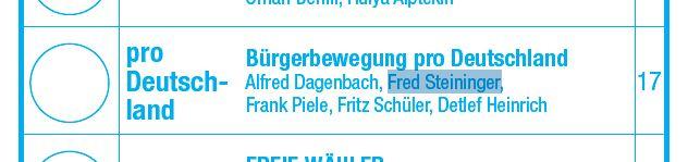 Steininger als ProD-Kandidat 2013