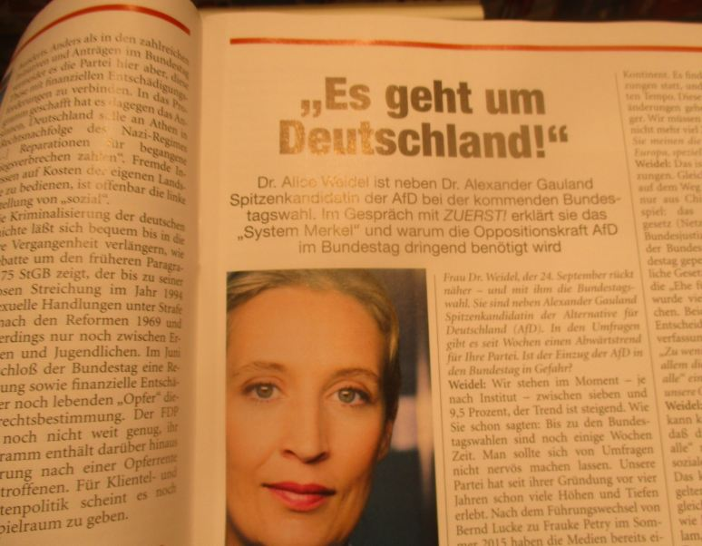 Weidel als Zuerst-Interviewpartnerin