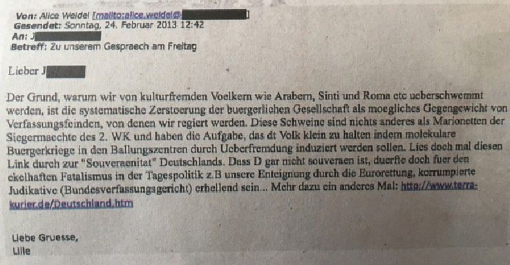 Weidel-Email