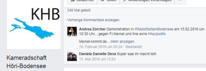 Andrea Zürcher wirbt bei Kameradschaft Höri-Bodensee