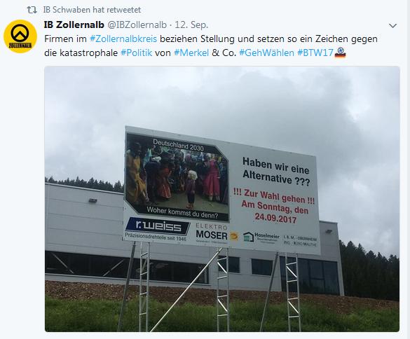 IB Zollernalb pro Plakat in Egesheim